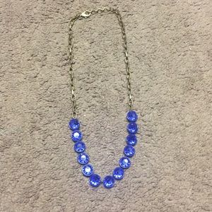 Jcrew Factory Blue and Gold Statement Necklace